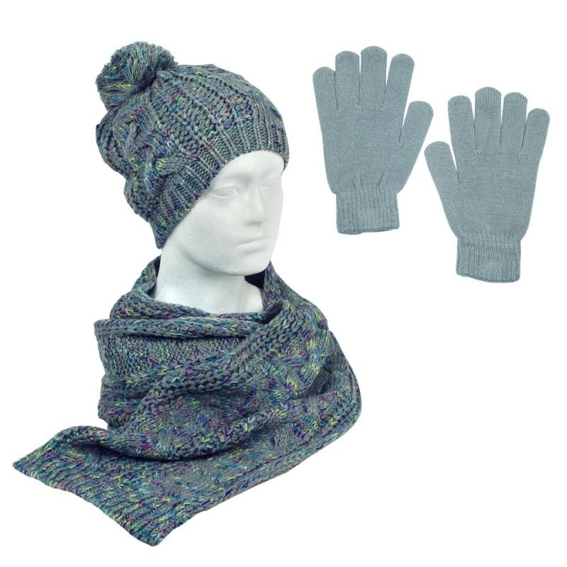 Joc de bufanda, guants i barret