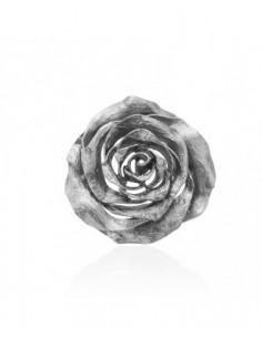 colgante rosa de plata negra
