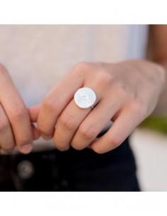 anillo plata grabado