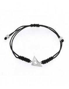 pulsera plata con triangulo desigual