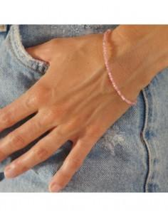 pulsera de turmalinas rosas y cierre de plata