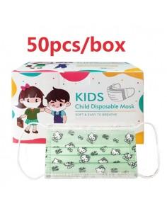 """Mascaretes Higièniques (50u.) Infantils. Color Verd amb """"Hello Kitty"""""""