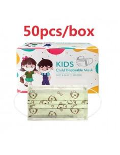 Mascaretes Higièniques (50u.) Infantils. Color Verd amb gossets