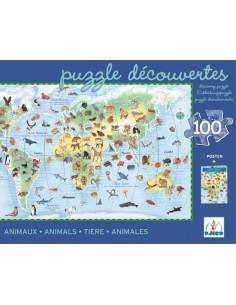 Puzle d'Observació 100 Peces Animals del món