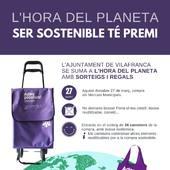 Ser sostenible té premi. Fes la compra als Mercats de Vilafranca aquest dissabte 26 de Març, no demanis bossa, i entraràs al sorteig de 36 carretons de la compra amb bossa isotèrmica.