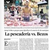 """La """"pescadería"""" contra Bezos, este es el creativo titular que nos dedica @lavanguardia sobre nuestro modelo de #marketplace de comercio local.  Link en la Bio!  #marketplece #ecommerce #comerciolocal #comerçlocal #comercioproximidad #comerçdeproximitat"""